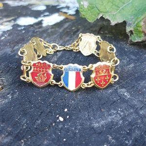 Vintage French souvenir landmarks Link bracelet